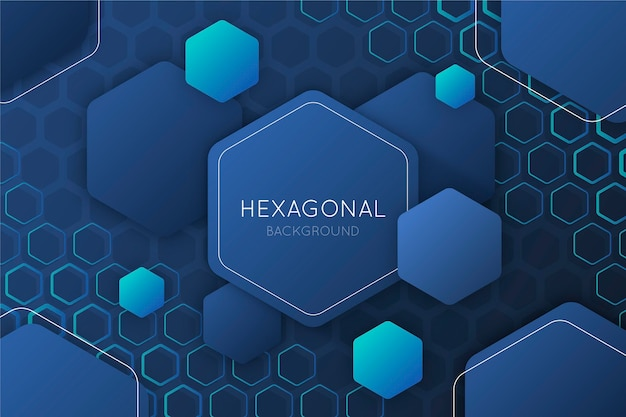 Fond hexagonal dégradé