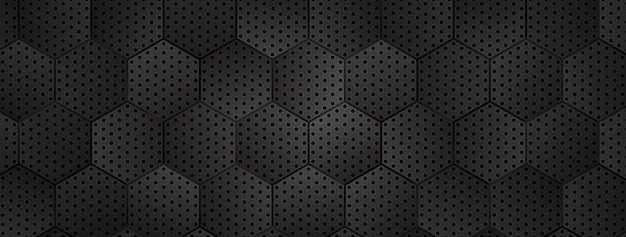 Fond hexagonal métallique