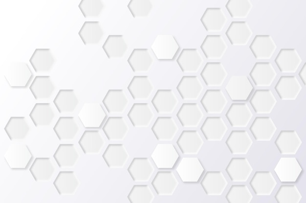 Fond hexagonal minimal blanc
