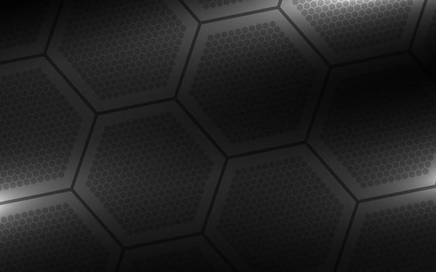 Fond hexagonal noir