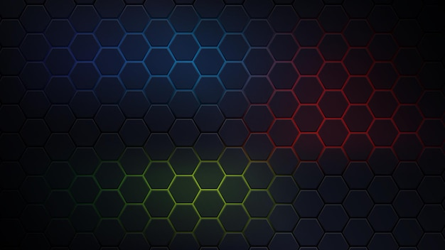 Fond hexagonal rvb