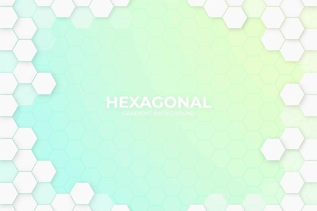 Fond hexagonal de style dégradé