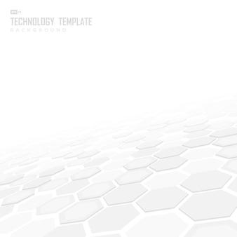 Fond hexagonal de technologie abstraite.
