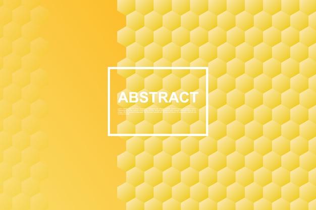 Fond d'hexagone en nid d'abeille jaune