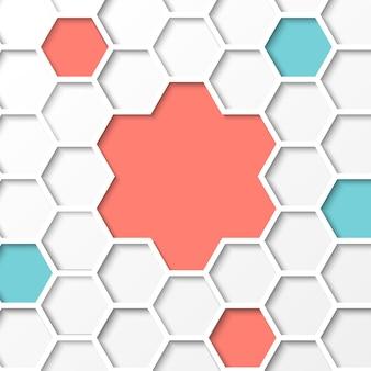 Fond d'hexagone.