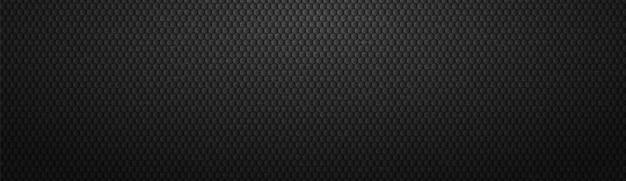Fond d'hexagones dégradé noir en acier