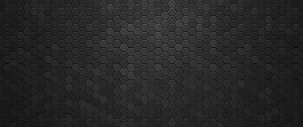 Fond d'hexagones dégradé noir industriel