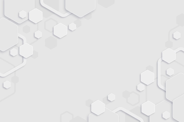 Fond d'hexagones minimal blanc