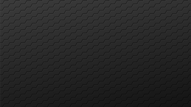 Fond d'hexagones noirs de lignes sinueuses. carreaux dégradés sombres industriels posés en résumé