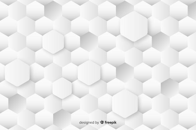Fond de hexagones de tailles géométriques déférents dans le style de papier