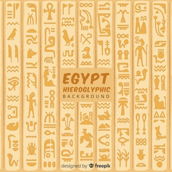 Fond hiéroglyphique en egypte