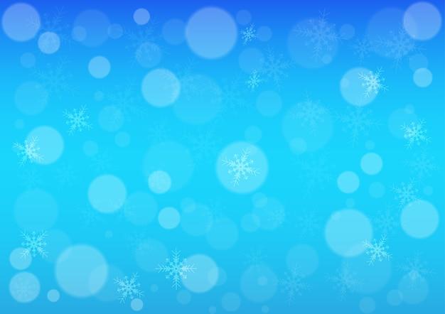 Fond d'hiver abstrait bokeh