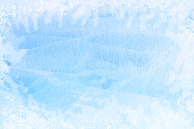 Fond d'hiver aquarelle