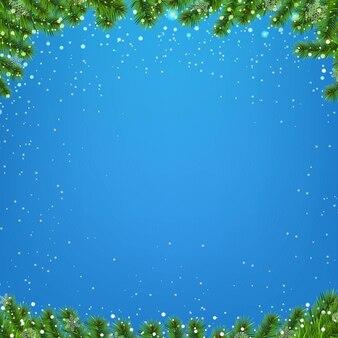Fond d'hiver avec arbre de noël