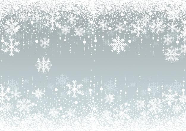Fond d'hiver de flocons de neige