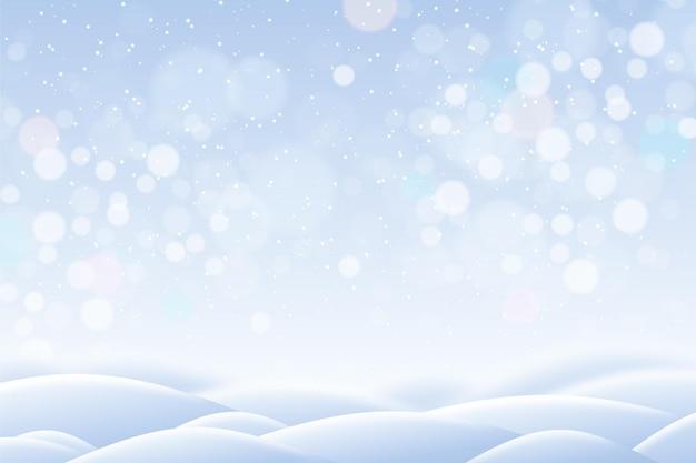 Fond d'hiver flou avec des collines
