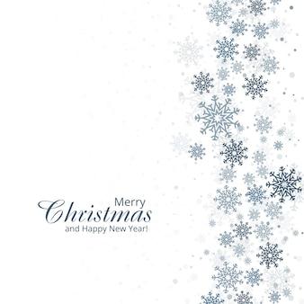 Fond d'hiver avec joyeux noël carte de flocons de neige d
