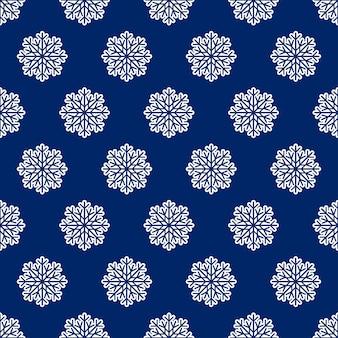 Fond d'hiver sans couture avec des flocons de neige, illustration vectorielle