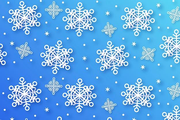 Fond d'hiver en style papier