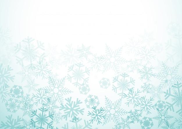 Fond d'hiver de vecteur