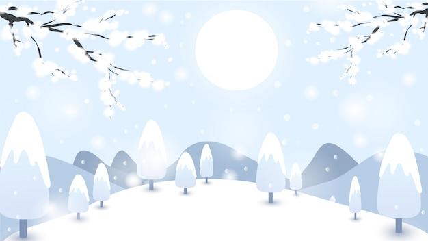 Fond d'hiver