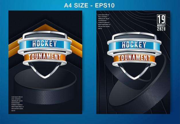 Fond de hockey sur glace