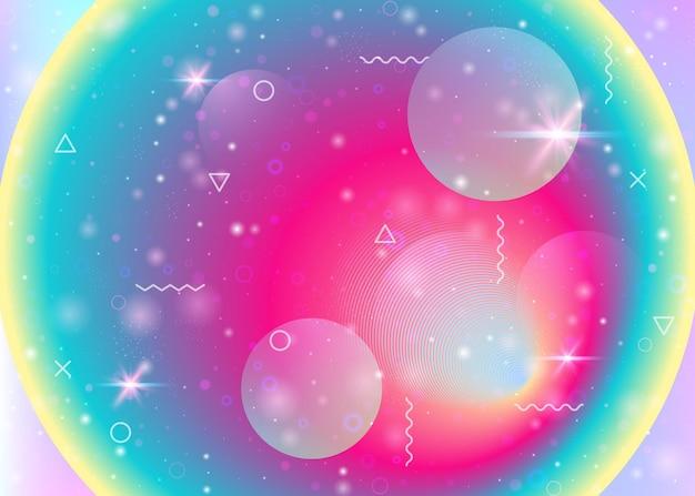 Fond holographique avec des dégradés arc-en-ciel vibrants. fluide dynamique