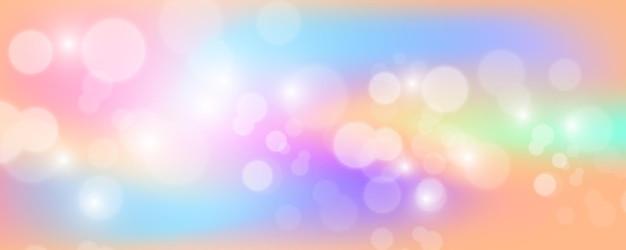 Fond holographique lumineux avec des étincelles.