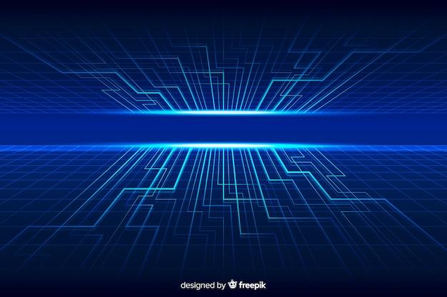 Fond d'horizon technologique futuriste