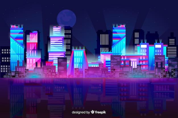 Fond d'horizon de ville futuriste