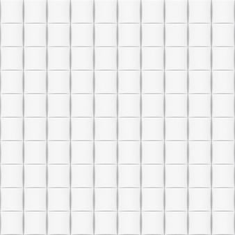 Fond horizontal blanc avec des carreaux. modèle sans couture