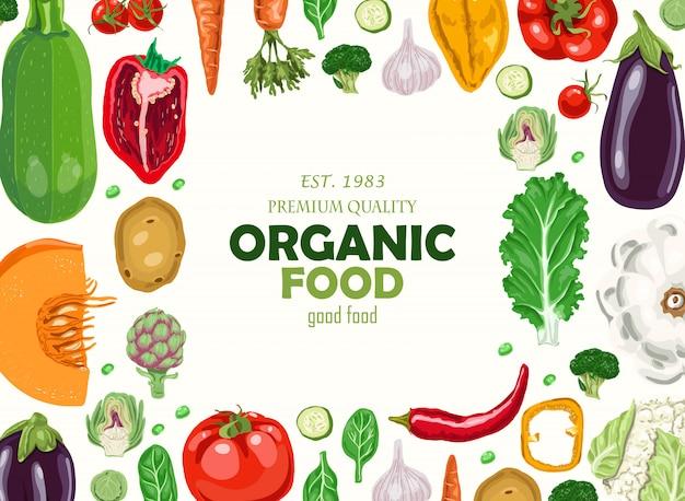 Fond horizontal avec des légumes