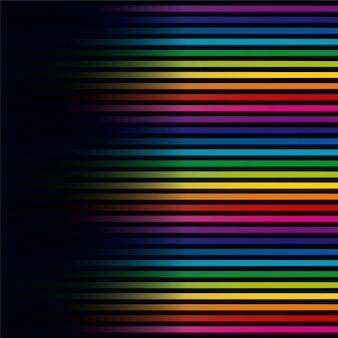 Fond horizontal de lignes colorées