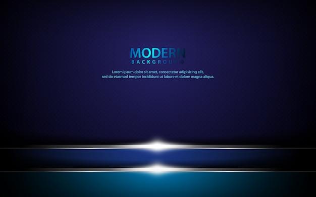 Fond horizontal métallique bleu foncé