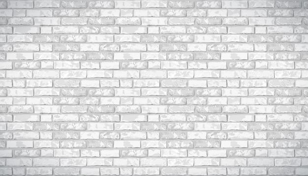 Fond horizontal de modèle de mur de brique vecteur réaliste