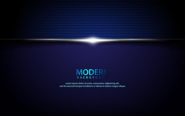 Fond horizontal texturé métallique bleu foncé