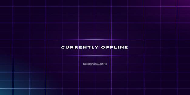 Fond hors ligne twitch violet moderne