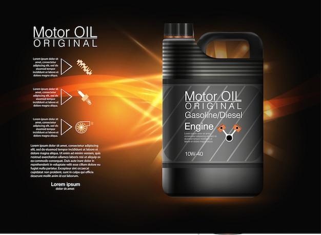 Fond d'huile moteur de bouteille