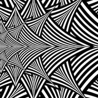 Fond hypnotique abstrait noir et blanc. eps10