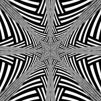 Fond hypnotique abstrait noir et blanc.