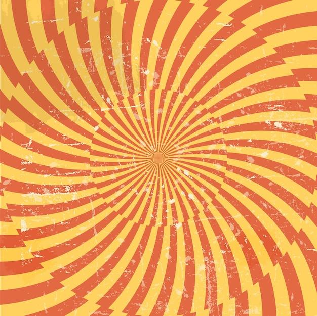 Fond hypnotique de style rétro. illustration vectorielle.