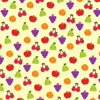 Fond d'icône de fruits