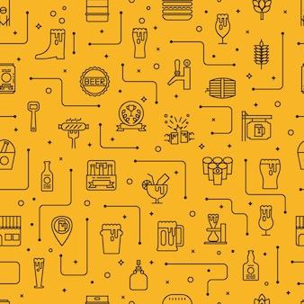 Fond d'icônes de bière
