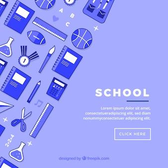 Fond d'icônes de l'école
