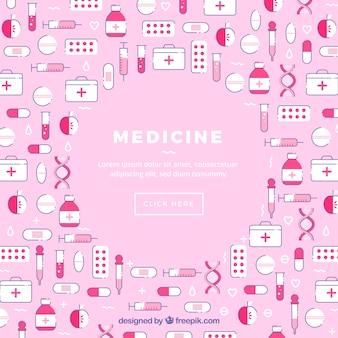 Fond d'icônes de médecine