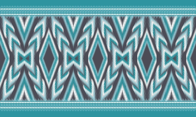 Fond d'ikat oriental ethnique géométrique