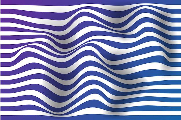 Fond d'illusion d'optique de lignes ondulées