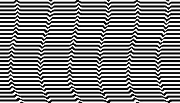 Fond d'illusion d'optique noir et blanc
