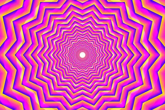 Fond d'illusion d'optique psychédélique rose