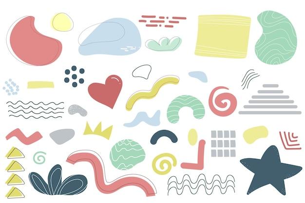 Fond d'illustration abstraite de griffonnage